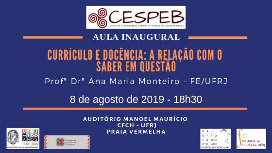 Aula inaugural CESPEB 2019.2