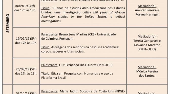 Seminário Anísio Teixeira- Setembro e Outubro