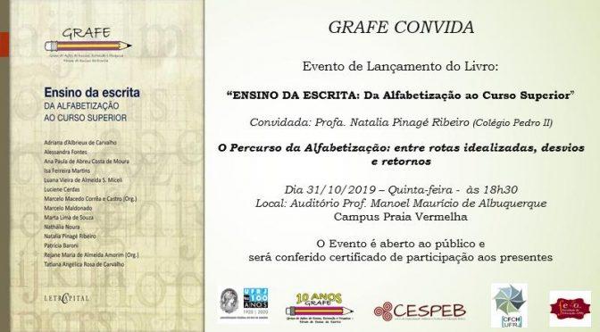 """GRAFE convida para """"O percurso da alfabetização: entre rotas idealizadas, desvios e retornos"""""""