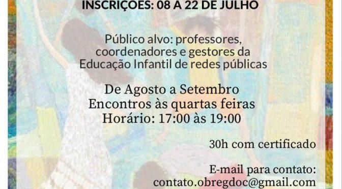 Curso de extensão online Observação, registro e documentação na educação infantil