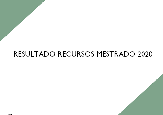 Resultado recursos Mestrado 2020
