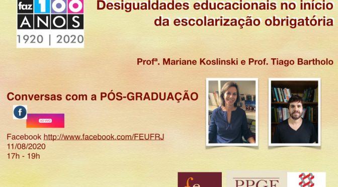 Conversas com a pós-graduação: desigualdades educacionais no início da escolarização obrigatória