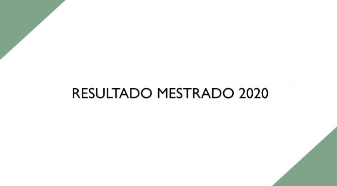 Resultado Mestrado 2020