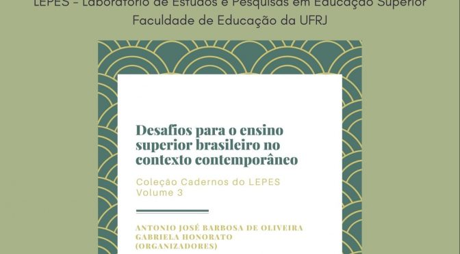 Terceiro volume da Coleção Cadernos do LEPES