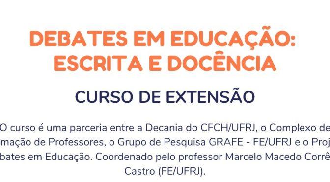 Debates em Educação: Escrita e Docência
