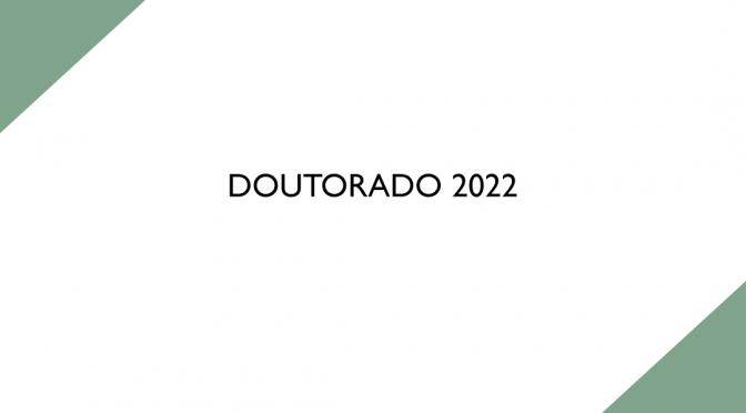 Doutorado 2022 PPGE