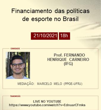 Financiamento das políticas de esporte no Brasil